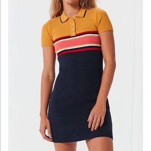 UO Stripe Button Down Polo Dress 👕✨